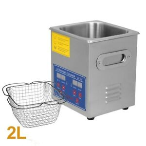 Professional 2l Stainless Steel Ultrasonic Cleaner Heater Timer Bracket Jps 10a