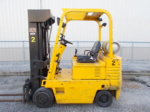 Daewoo Gc25s 5000lb Forklift Lpg 4 Stage Mast Lift Truck Tow Hilo Fork
