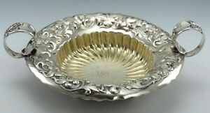 Antique C1890 Sterling Silver Whiting Heraldic 2 Handled Dish Bowl Hollowware