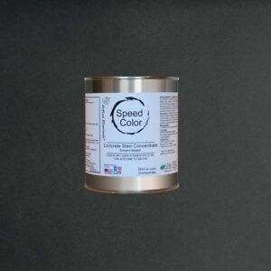 Concrete Paint Pure Black Speed Color 24oz Conc Yields 1gal Fast Drying