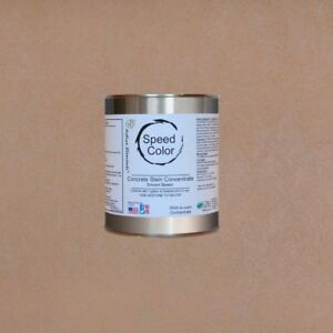 Fast Drying Concrete Paint 24oz Concentrate Yields 1 Gal Buff Color tan