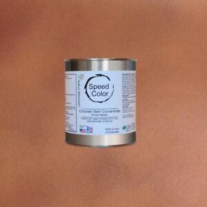 Concrete Paint 24oz Concentrate Yields 1 Gal Caramel Color Fast Drying