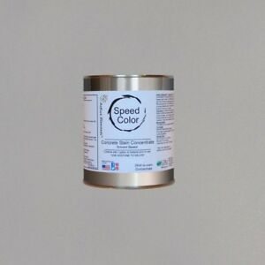 Fast Drying Concrete Paint 24oz Concentrate Yields 1 Gal Smoke Soft Grey Color