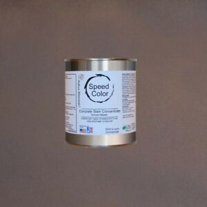 Fast Drying Concrete Paint 24oz Concentrate Yields 1 Gallon Walnut Color