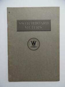 1912 Westinghouse Electric Switchboard Indicating Meters Catalog Antique Orig