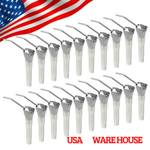 20 Dental 3 Way Air Water Spray Triple Syringe Handpiece 40 Nozzles Tips Tubes