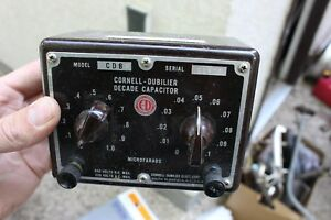 Vintage Cornell dubilier Model Cdb3 Decade Capacitor Substitution Box Radio Tool