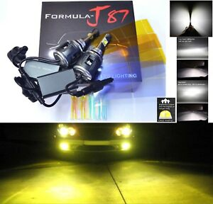 Led Kit C 80w 9006 Hb4 3000k Yellow Two Bulbs Head Light Xenon Look Replace Lamp