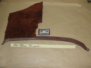 Oem 1966 66 Cadillac Fleetwood Right Psasenger Side Kick Panel Trim Brown