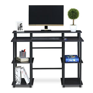 Furinno Turn n tube Computer Desk With Top Shelf Organizer Table For Home
