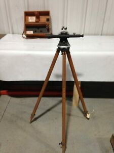 Vintage Starret No 99 Survey Transit With Tripod