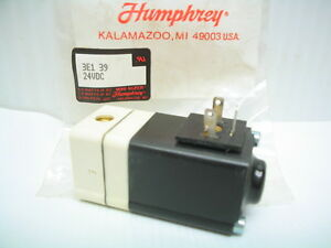 Humphrey Mini mizer Solenoid Pneumatic Air Valve 3e1 39 24vdc
