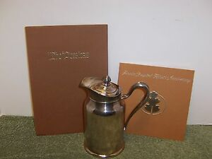 40s Reed Barton Silver Soldered Peralta Hospital Insulated Pitcher