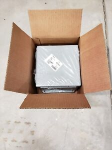 New Hoffman A808ch Junction Box 8 X 8 X 4 Hinged Cover W clamp Nema 12 13