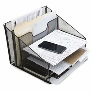 Desktop File amp Letter Organizer Metal Paper Sorter Tray For Notes Papers