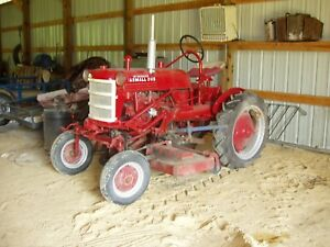 Farmall Cub Ih Tractor With Belly Mower