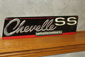 Vintage Style Chevelle Ss Metal Embossed Signs New Gas Pump Station Service