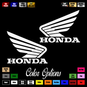 2x Honda Wings 3 5 X 2 75 Emblem Vinyl Sticker Civic Decal Motorcycle 059