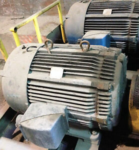 100 Hp Ac Electric Motor Frame 445 Us 3 Ph 1780 Rpm Westinghouse Load Tested Ok