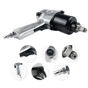 New 750n m Heavy Duty Pneumatic Air Impact Wrench Spanner Set 1 2 Inch Chrome