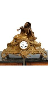 Rare Orientalist Antique French Made Arab Ottoman Mantle Clock From 1880