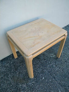 Mid Century Modern Oak And Burl End Side Table By Lane 2186