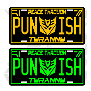 Transformers Autobots Decepticon Bumblebee Metal License Tag Fastfree Shipping