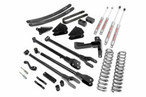 Rough Country 6 4 Link Lift Kit 05 07 Ford F250 Super Duty 4wd