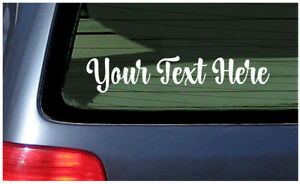 Custom Window Sticker Make Your Own Vinyl Decal Personalized Customized Cursive