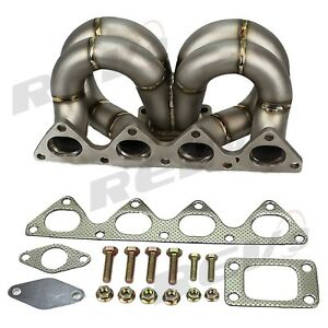 Rev9 Hp series Equal Length T3 Turbo Manifold 38mm Wastegate Flange For B16 b18