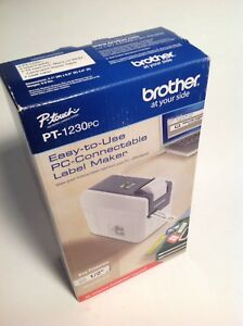 Brother P touch Pt1230pc Pc connectable Label Maker No Software Needed