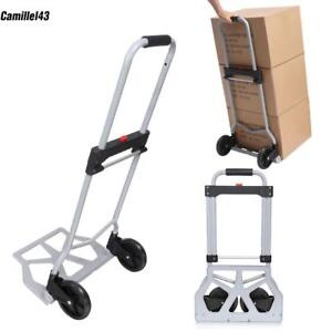 Portable Cart Collapsible Hand Truck Aluminium Dolly Trolley Luggage 220lbs Usa