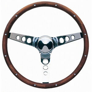 Grant 201 Chrome Steel 15 In Diameter Classic Wood Steering Wheel