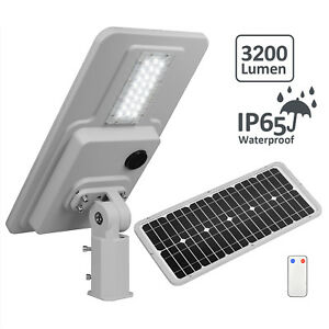 Solar Power Backyard Led Street Light Waterproof 3200lm Motion Sensor Dusk Dawn