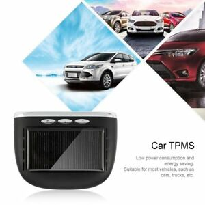 Solar Lcd Car Tpms Real Time Tire Pressure Monitoring System Security Alarm Sa