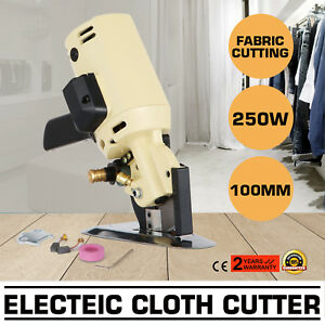 4 Electric Cloth Cutter Cutting Machine Scissors 100mm Blade 8 Angular Sew Tool