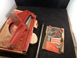 VINTAGE CH SUPER C RED SINGLE STAGE RELOADING PRESS W C-H BOX AND MANUAL