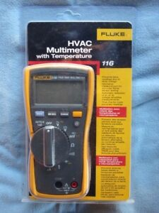 Fluke Hvac Multimeter 116 With Temperature Probe Nib