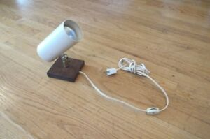 Vintage Mid Century Modern Wall Cylinder Can Spot Light Scone Lamp