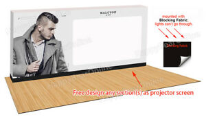 Trade Show Pop up Projection Screen Portable Display Booth 20ft 240 Inch