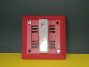 Fos 6120 Fire Alarm Wall Mount Speaker Audble Visual 21 30 Volts Dc