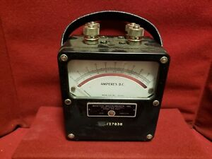 Vintage Weston Instruments Amperes D c Model 931 No 96180 8412