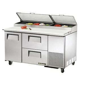 True Tpp 60d 2 60 Refrigerated Pizza Prep Table