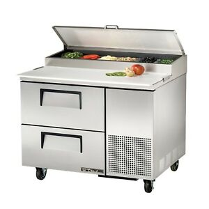 True Tpp 44d 2 44 2 Drawer Refrigerated Pizza Prep Table 11 4 Cu Ft