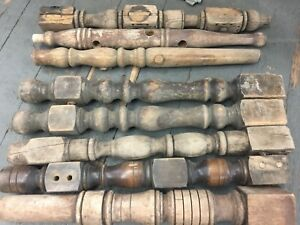 Lot 2 Wooden Table Chair Legs Antique Architectural Salvage Farmhouse Repurpose
