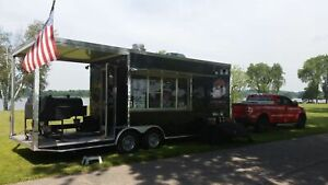 2012 8 6 X 24 Bbq Concession Trailer With Porch For Sale In Florida