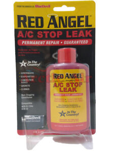 Red Angel A c Stop Leak Permanent Seal R 134a R 12 2 Oz Ch49496