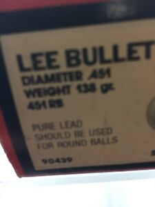 Lee Bullet Mold Dia 451 Weight 138 gr Round Ball SINGLE