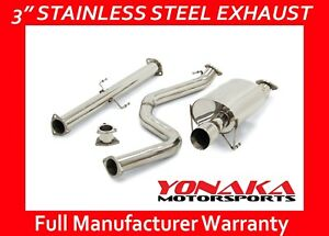 Yonaka Catback Exhaust For 92 00 Honda Civic 2dr 4dr 3 Stainless Steel System