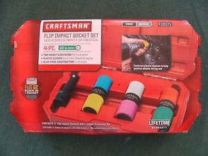 Craftsman Flip Impact Socket Set 4 pc 1 2 Drive 6 point Inch And Metric 10171
